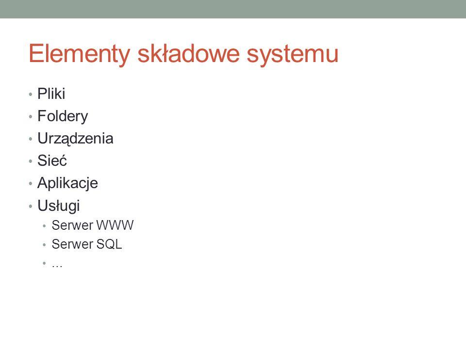 Elementy składowe systemu
