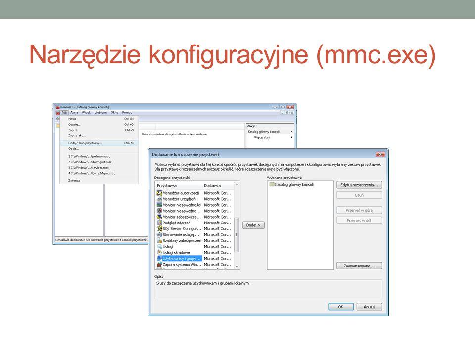Narzędzie konfiguracyjne (mmc.exe)