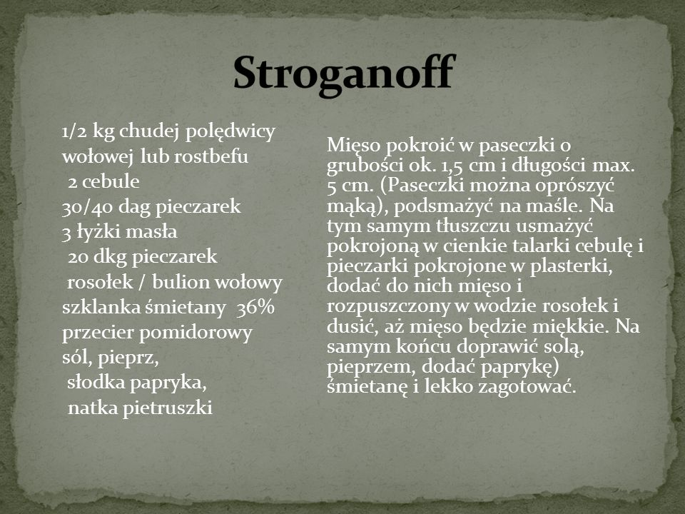 Stroganoff