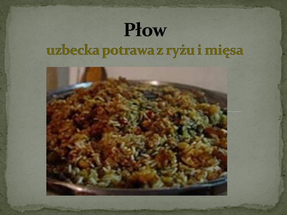 Płow uzbecka potrawa z ryżu i mięsa