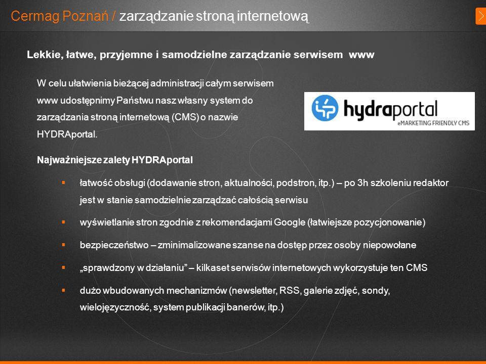Cermag Poznań / zarządzanie stroną internetową
