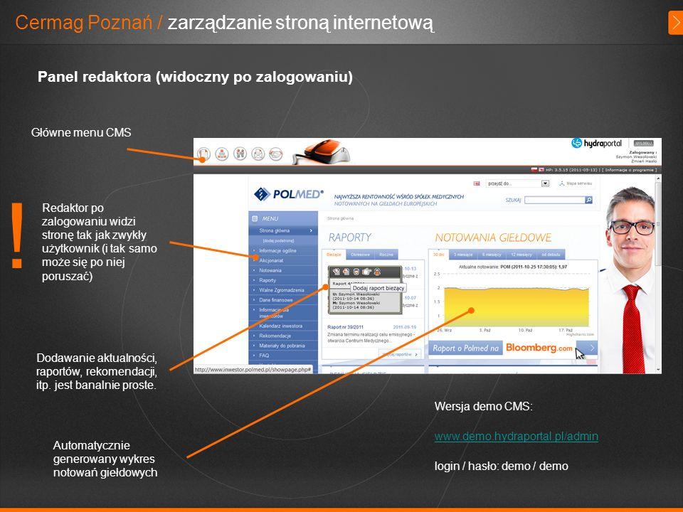 ! Cermag Poznań / zarządzanie stroną internetową