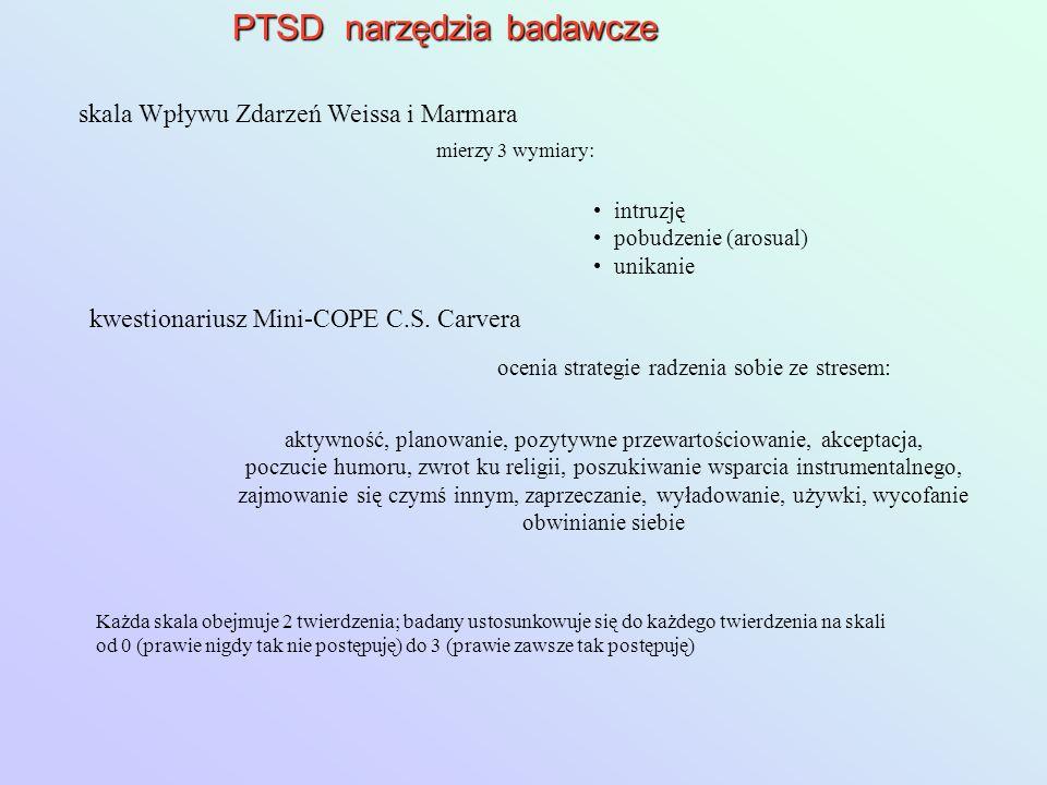 PTSD narzędzia badawcze