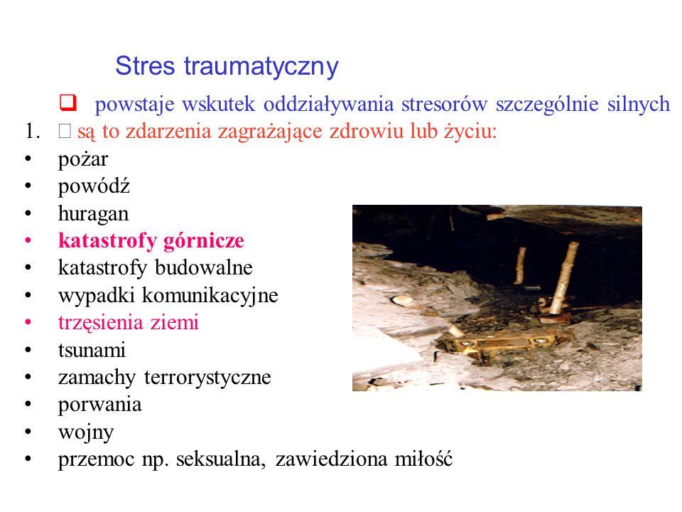 q powstaje wskutek oddziaływania stresorów szczególnie silnych
