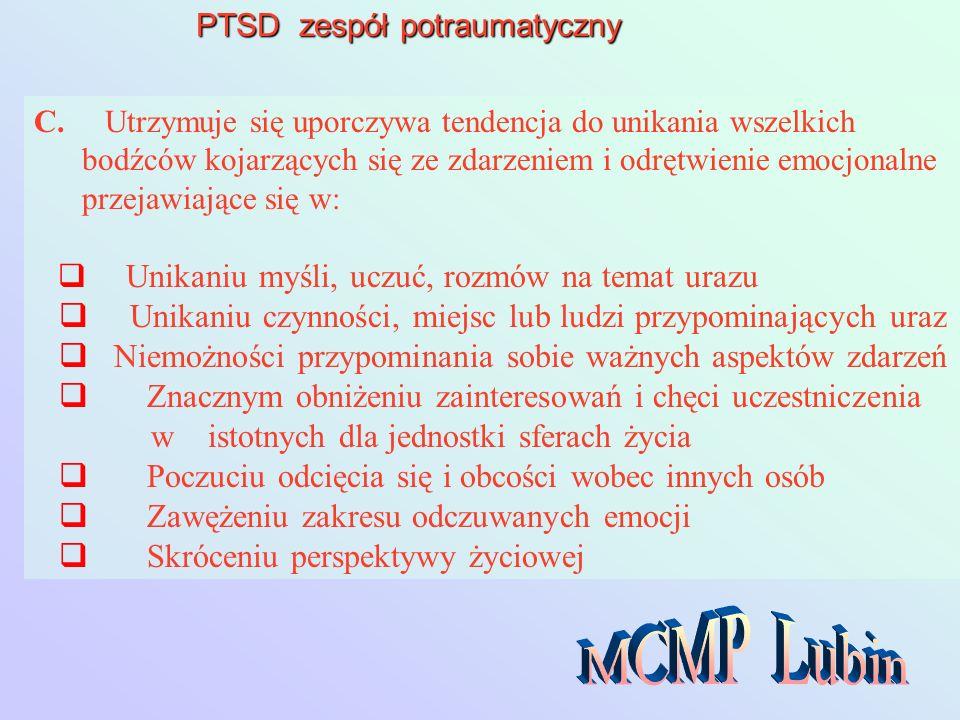PTSD zespół potraumatyczny