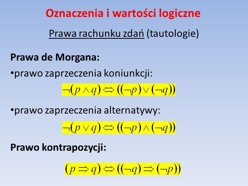 Oznaczenia i wartości logiczne