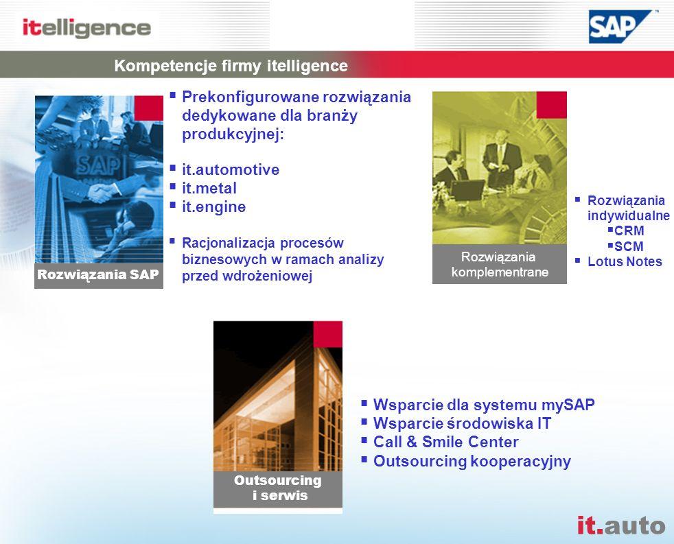 Kompetencje firmy itelligence