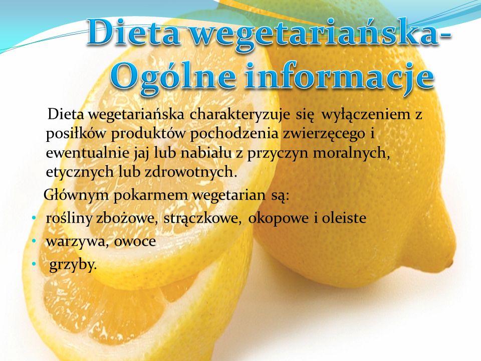 Dieta wegetariańska- Ogólne informacje