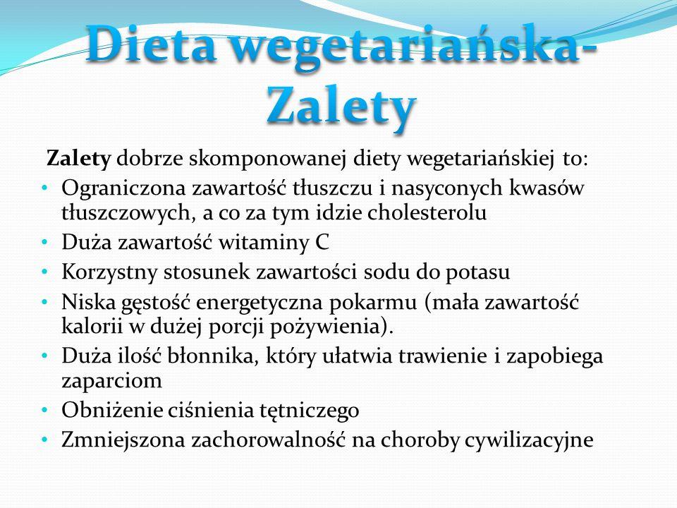 Dieta wegetariańska- Zalety