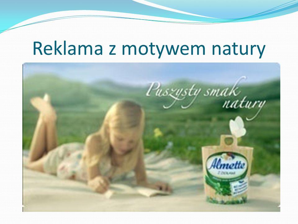 Reklama z motywem natury