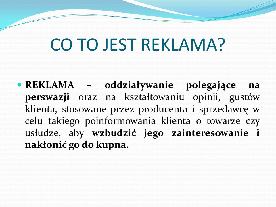 CO TO JEST REKLAMA