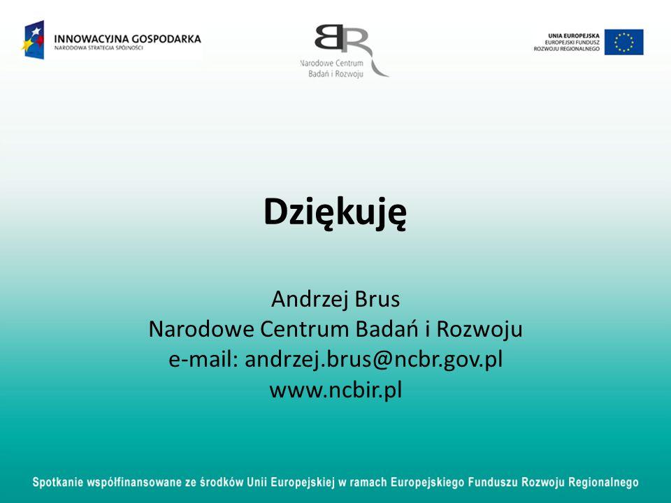 Dziękuję Andrzej Brus Narodowe Centrum Badań i Rozwoju