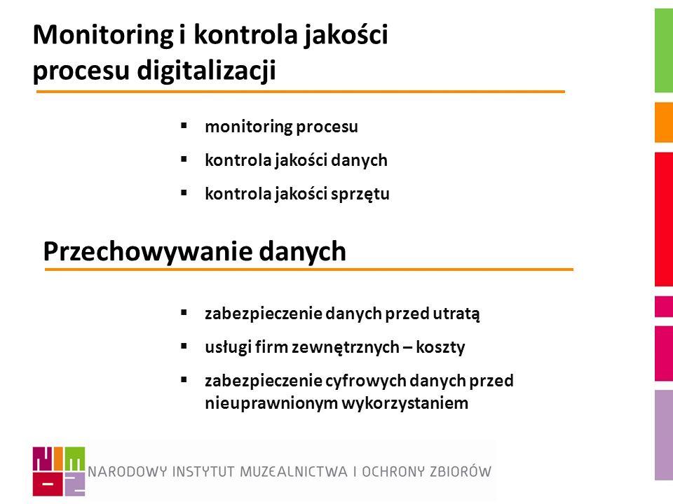 Monitoring i kontrola jakości procesu digitalizacji