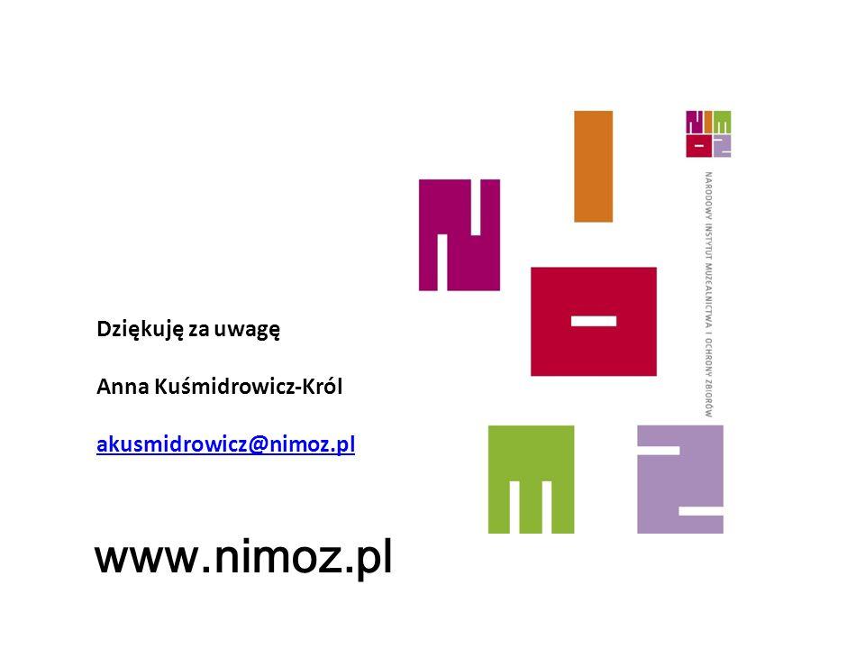www.nimoz.pl Dziękuję za uwagę Anna Kuśmidrowicz-Król