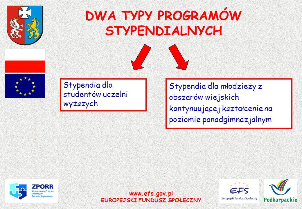 DWA TYPY PROGRAMÓW STYPENDIALNYCH
