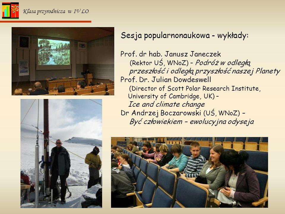 Sesja popularnonaukowa - wykłady: