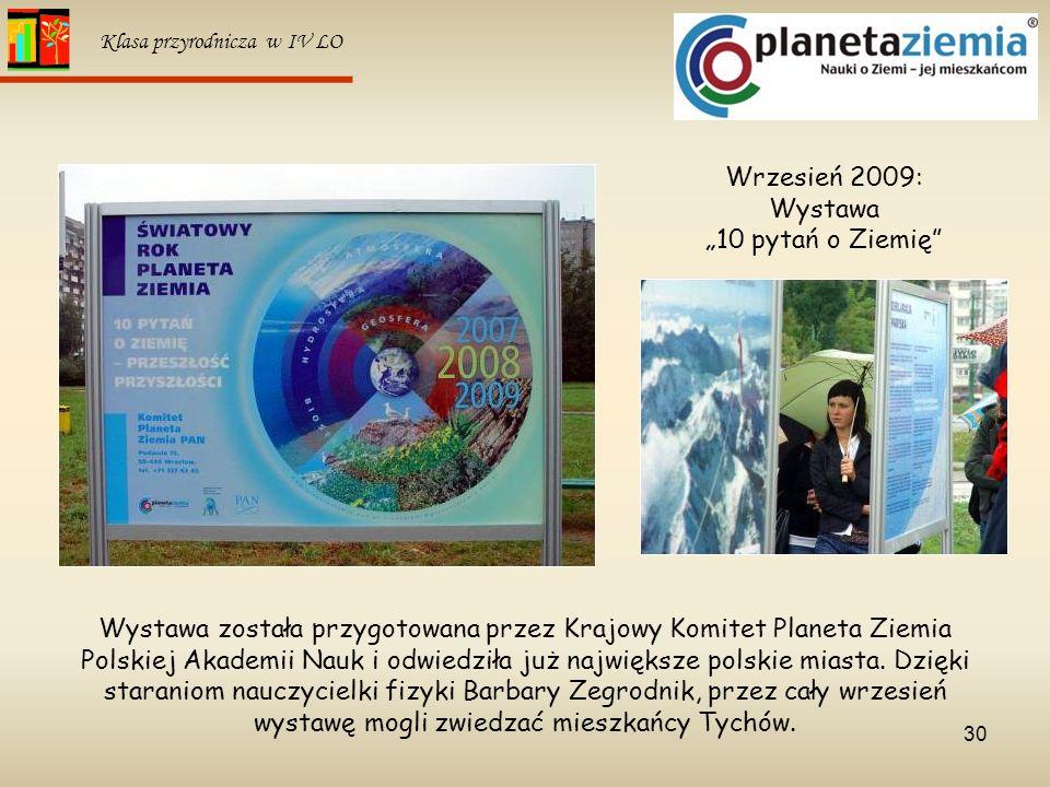 """Wrzesień 2009: Wystawa """"10 pytań o Ziemię"""
