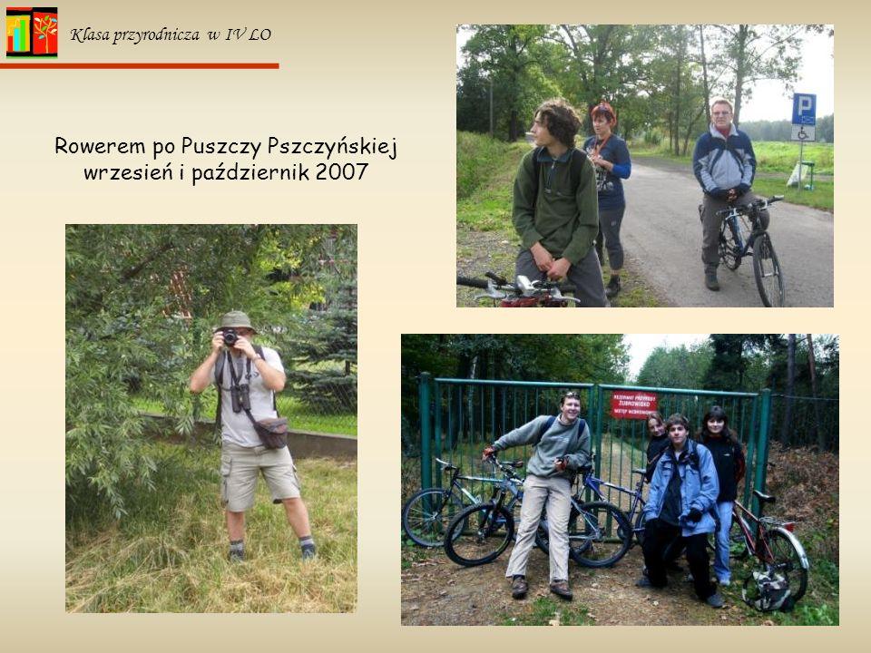 Rowerem po Puszczy Pszczyńskiej wrzesień i październik 2007