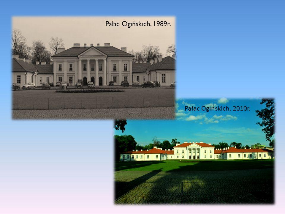 Pałac Ogińskich, 1989r. Pałac Ogińskich, 2010r.