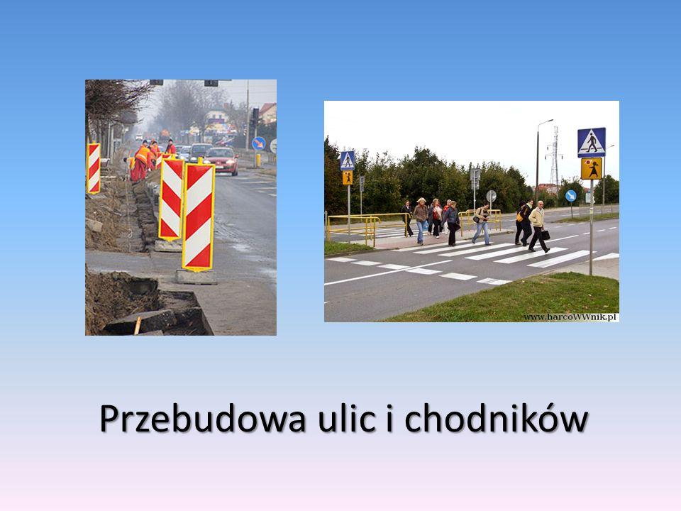 Przebudowa ulic i chodników