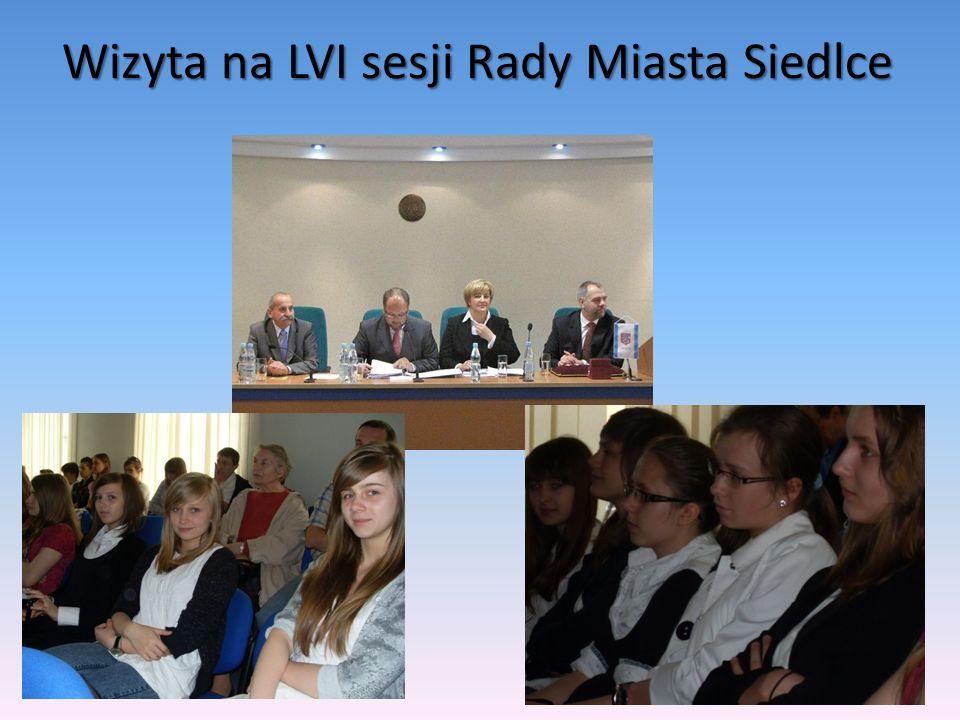 Wizyta na LVI sesji Rady Miasta Siedlce
