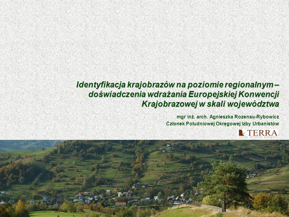 Identyfikacja krajobrazów na poziomie regionalnym – doświadczenia wdrażania Europejskiej Konwencji Krajobrazowej w skali województwa