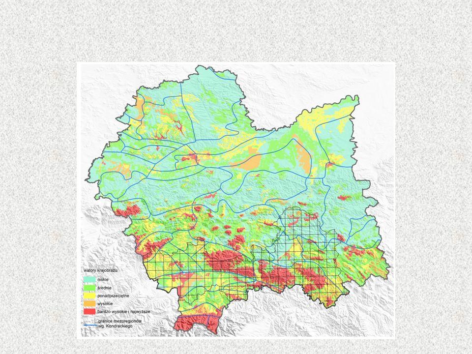 Efektem prowadzonych prac jest uzyskanie kompleksowej gradacji walorów krajobrazowych całego województwa z dość dużym stopniem szczegółowości, jak na ujęcie o tak dużym zasięgu, pozwalającym na prowadzenie polityki przestrzennej. Metoda sprawdziła się w przypadku województwa będącego obszarem niezwykle zróżnicowanym i pozwoliła na dość szczegółowe wyodrębnienie obszarów odznaczających się najwyższymi wartościami.