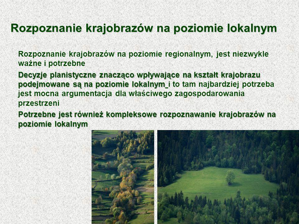 Rozpoznanie krajobrazów na poziomie lokalnym