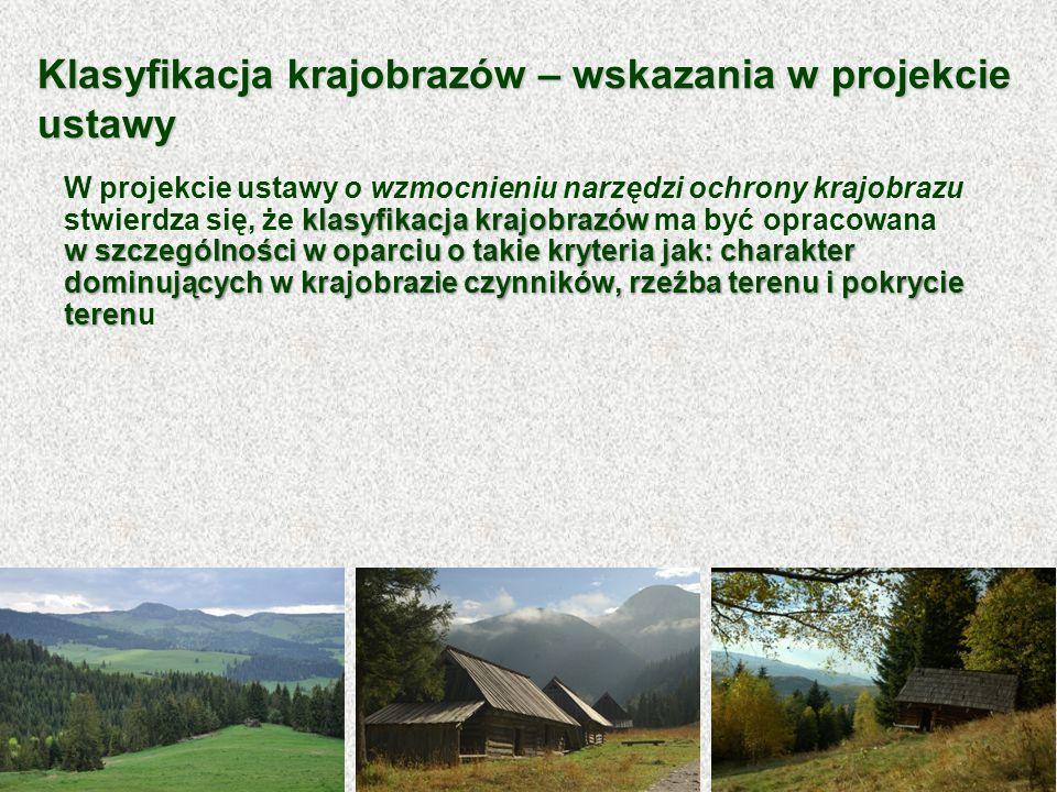 Klasyfikacja krajobrazów – wskazania w projekcie ustawy