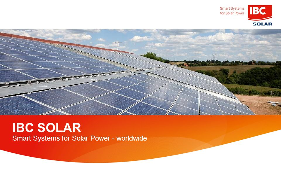 IBC SOLAR Smart Systems for Solar Power - worldwide