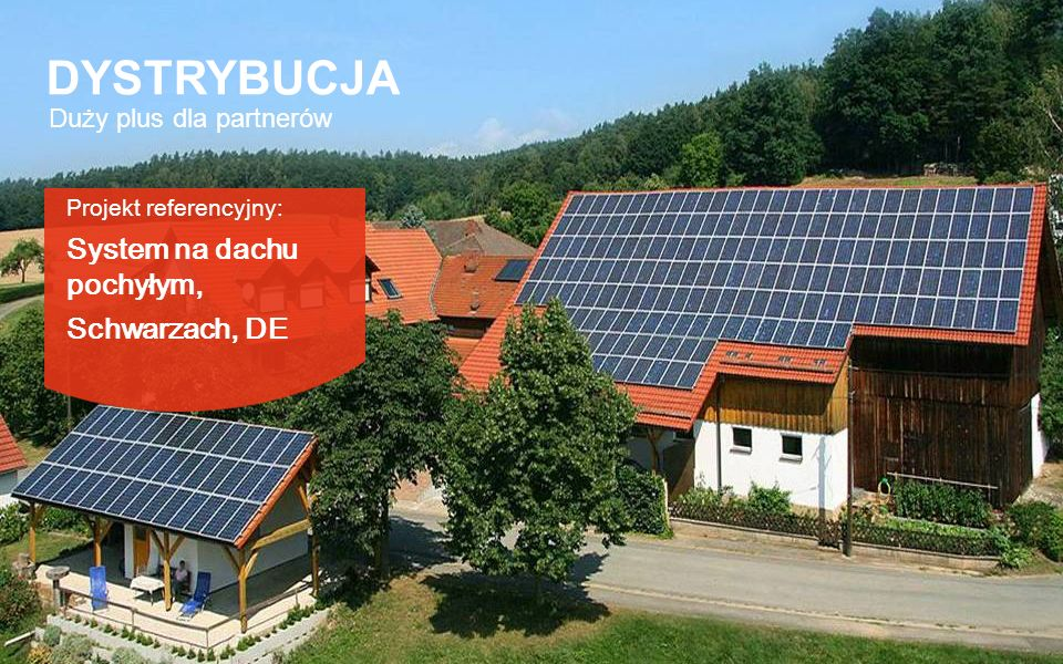 DYSTRYBUCJA System na dachu pochyłym, Schwarzach, DE