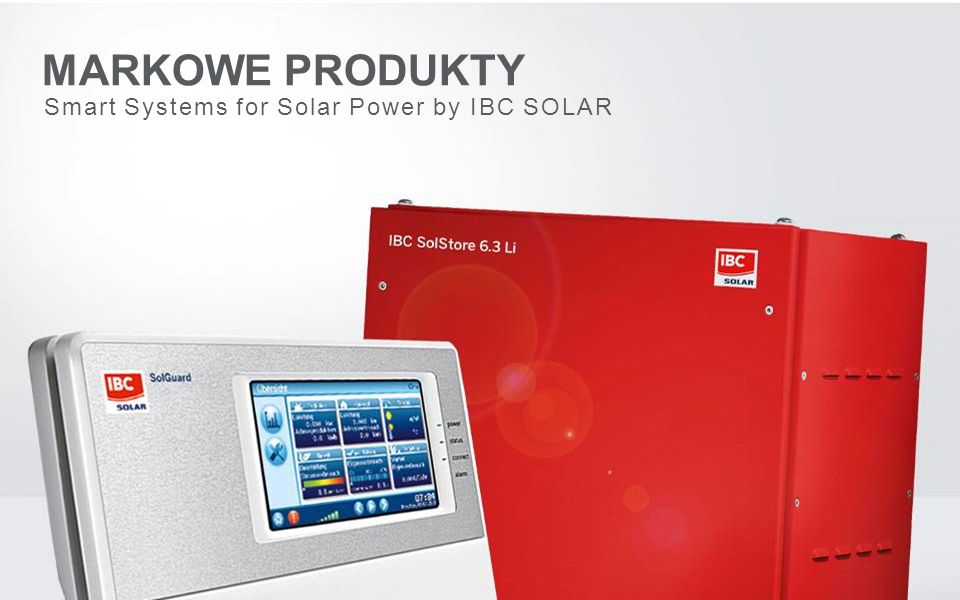 MARKOWE PRODUKTY Smart Systems for Solar Power by IBC SOLAR