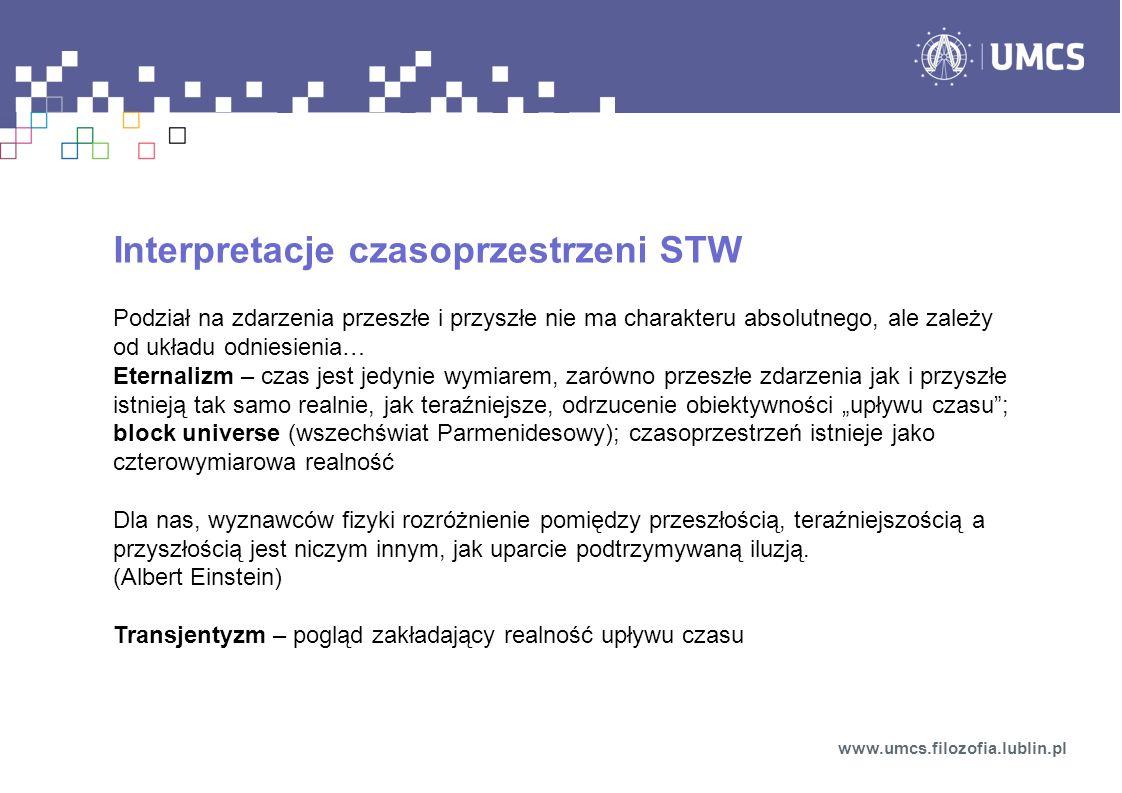 Interpretacje czasoprzestrzeni STW