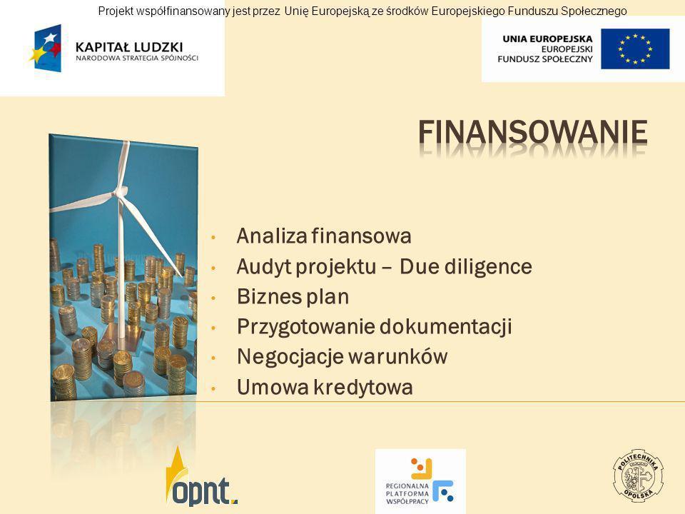 Finansowanie Analiza finansowa Audyt projektu – Due diligence