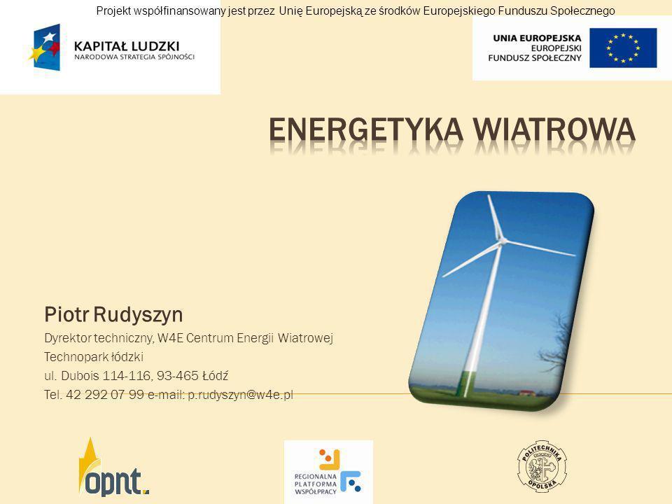Energetyka wiatrowa Piotr Rudyszyn