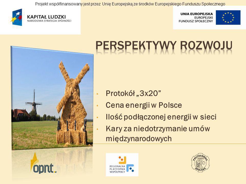 """Perspektywy rozwoju Protokół """"3x20 Cena energii w Polsce"""