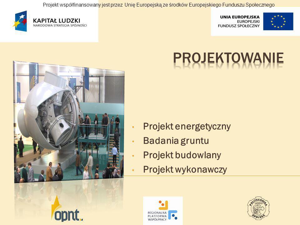 Projektowanie Projekt energetyczny Badania gruntu Projekt budowlany