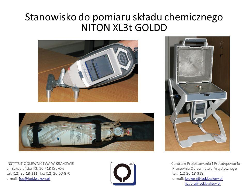 Stanowisko do pomiaru składu chemicznego NITON XL3t GOLDD