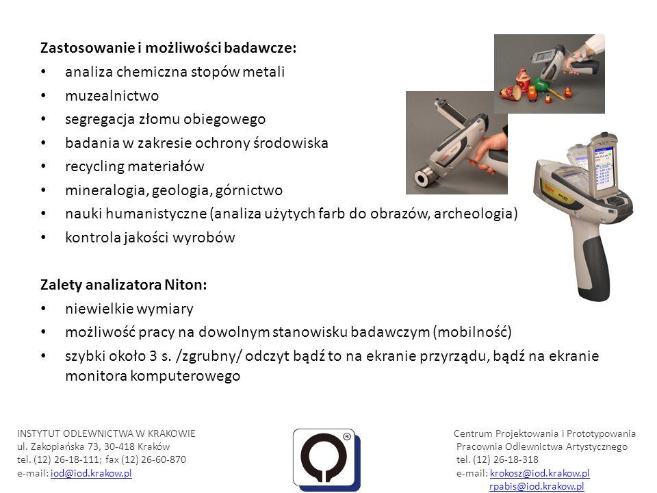 Zastosowanie i możliwości badawcze: analiza chemiczna stopów metali