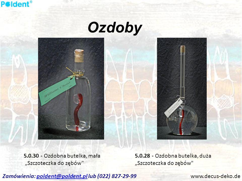 """Ozdoby 5.0.30 - Ozdobna butelka, mała """"Szczoteczka do zębów"""