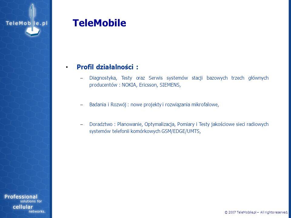 TeleMobile Profil działalności :