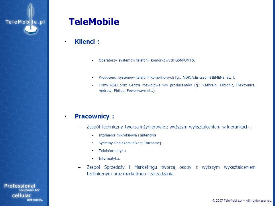 TeleMobile Klienci : Pracownicy :