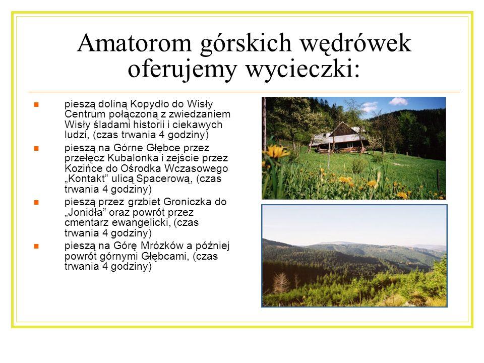 Amatorom górskich wędrówek oferujemy wycieczki: