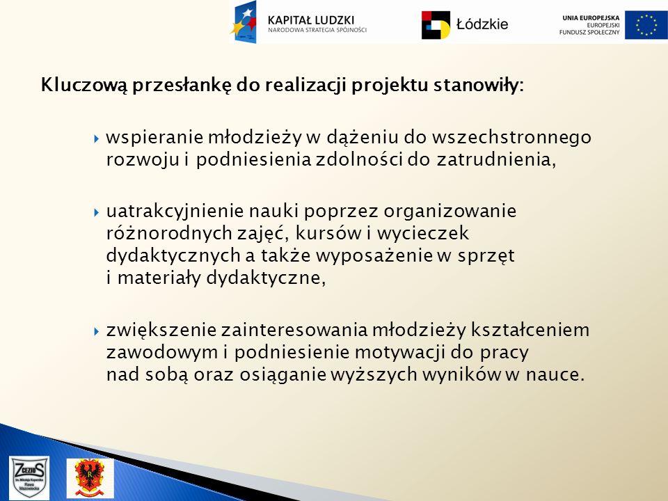 Kluczową przesłankę do realizacji projektu stanowiły:
