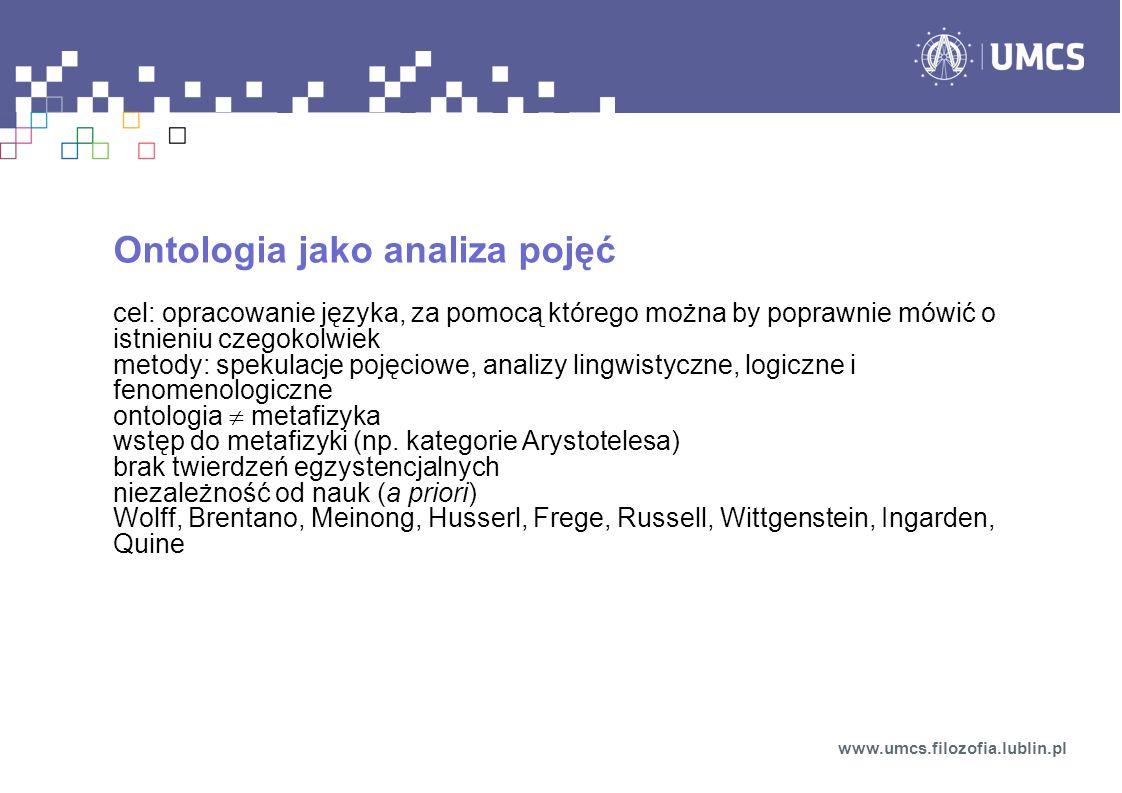Ontologia jako analiza pojęć