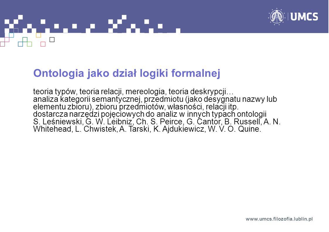 Ontologia jako dział logiki formalnej