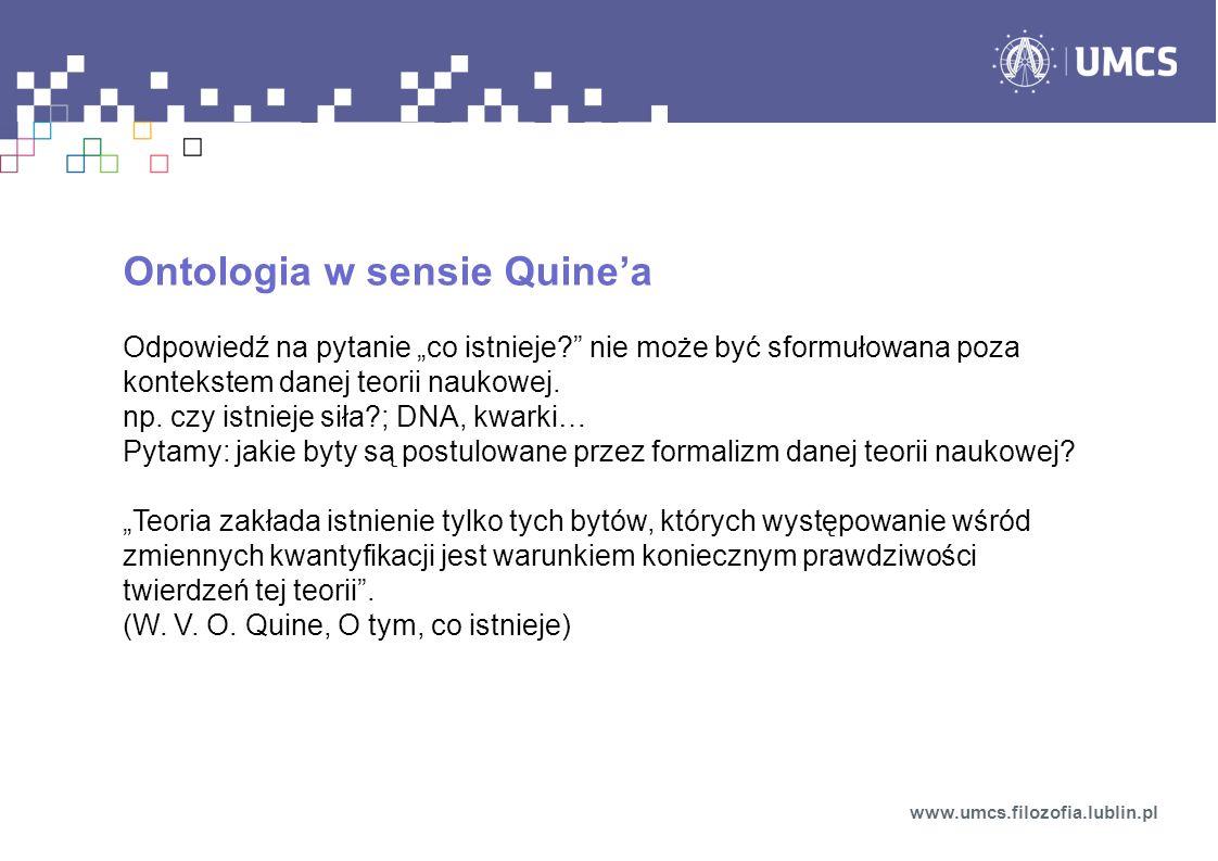 Ontologia w sensie Quine'a