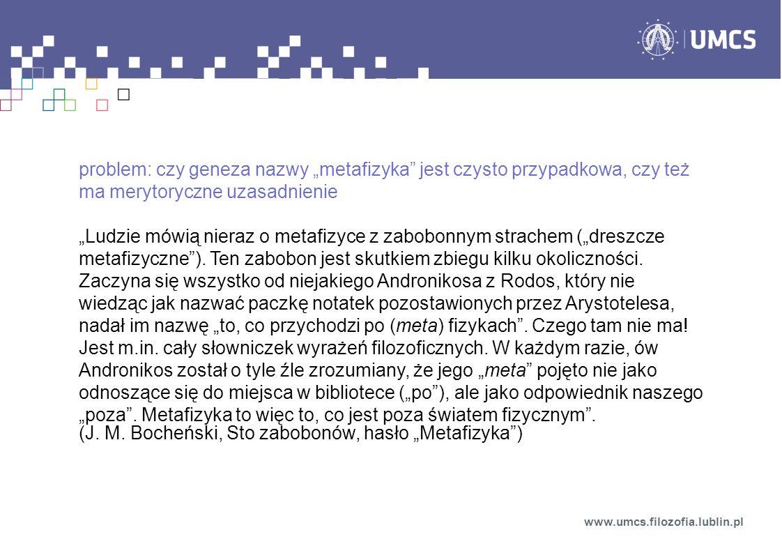 """(J. M. Bocheński, Sto zabobonów, hasło """"Metafizyka )"""