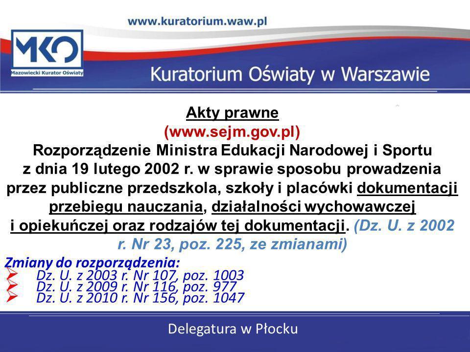 Akty prawne (www.sejm.gov.pl)