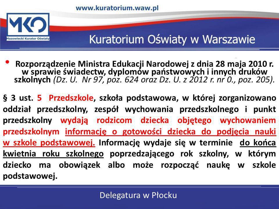 Rozporządzenie Ministra Edukacji Narodowej z dnia 28 maja 2010 r